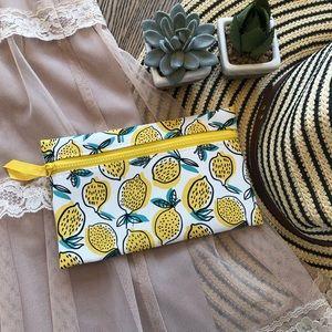 NWOT Lemon Ipsy Makeup Accessory Product Bag